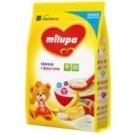 Каша молочная Milupa сухая быстрорастворимая манная с фруктами 210г