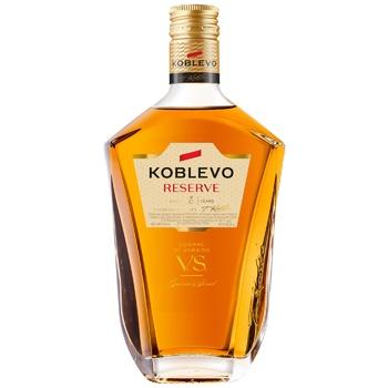 Коньяк Koblevo Reserve V.S. 3 года 40% 0,25л - купить, цены на Ашан - фото 1