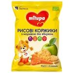 Рисові коржики Milupa Морква яблуко 40г