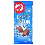 Auchan Milk Chocolate with Crispy Rice 100g