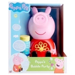 Peppa Pig Bubble Machine Game Set with Soap Bubbles