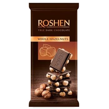 Roshen Whole Hazelnuts Extra Dark Chocolate - buy, prices for CityMarket - photo 1
