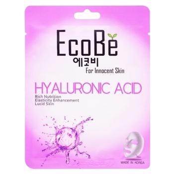 Маска для лица Eco Be Гиалуроновая кислота тканевая 25мл
