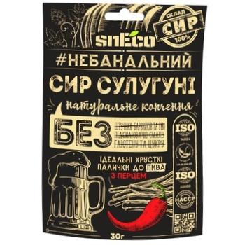 Сир SnEco Сулугуні з перцем сухий копчений 30г - купити, ціни на Ашан - фото 1