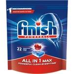 Таблетки для посудомийних машин Finish All in 1 Все в одному Max безфосфатні 22шт