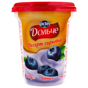 Десерт сирковий Dolce чорниця 3,4% 350г