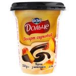 Dolce Peach and Chocolate Flavored Cottage Cheese Dessert 3,4% 350g
