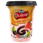 Dolce Strawberry-Kiwi and Chocolate Flavored Cottage Cheese Dessert 3,4% 350g