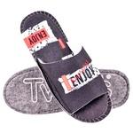 Тапки домашні чоловічі Twins 4427 Enjoy р.44 синій войлочні з відкритим носком