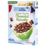 Хлопья Ашан шоколадные с орехами без глютена 375г