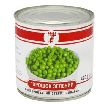 Горошок Семерка грядки зелений консервований 420г