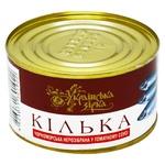 Килька Українська Зірка Черноморская неразобранная в томатном соусе 240г