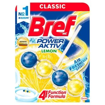 Toilet block Bref Power active 50 g Lemon - buy, prices for CityMarket - photo 1
