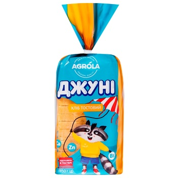 Хліб Agrola Джуні тостовий нарізаний 350г