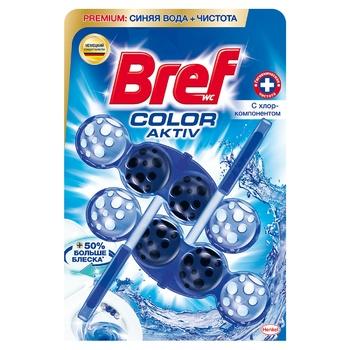 Блок для унитаза Bref Цветная вода Хлор-компонент 100г - купить, цены на Метро - фото 6