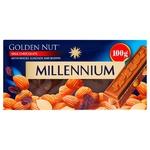 Шоколад Millennium Gold Nut молочний з цілим мигдалем та родзинками 100г