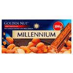 Шоколад Millennium Gold Nut молочний з цілим мигдалем та курагою 100г