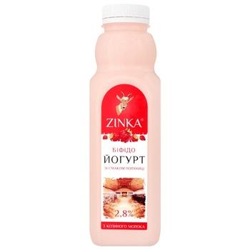 Бифидойогурт Zinka из козьего молока со вкусом клубники 2,8% 510г