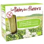 Хлібці Le Pain des fleurs гречані органічні безглютенові 150г