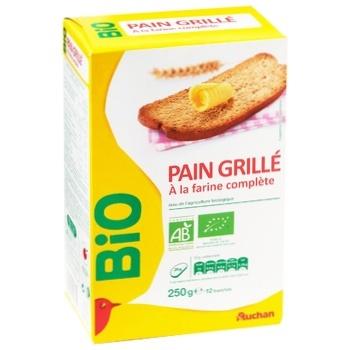 Тости Auchan Bio 250г - купити, ціни на Ашан - фото 1