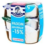 Prostokvashyno Cottage Cheese 5% 3pcs*305g