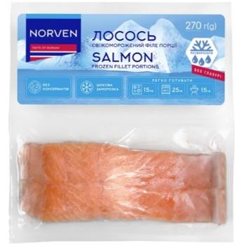 Філе лосося Norven свіжеморожене 2х135г - купити, ціни на Космос - фото 1