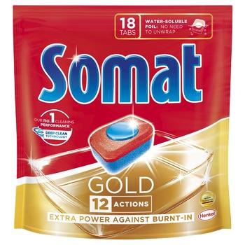 Таблетки Сомат Голд для посудомоечной машины 18шт