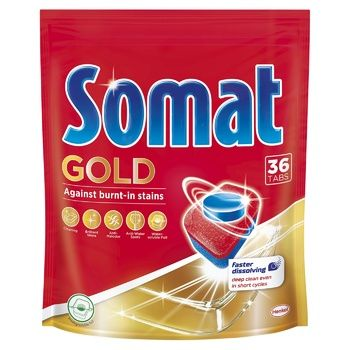 Таблетки Сомат Голд для посудомоечной машины 36шт