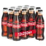 Напиток газированный Coca-Cola Zero стекло 0,25л