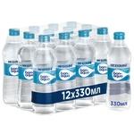 Вода BonAqua негазированная стекло 0,33л