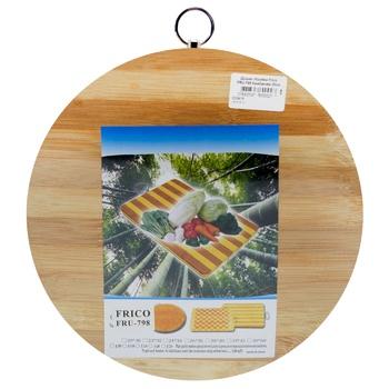 Дошка обробна Frico FRU-798 бамбукова 25см кругла