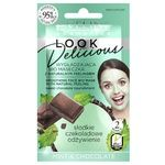 Биомаска для лица Eveline Look Delicious Мята-шоколад с натуральным скрабом 10мл