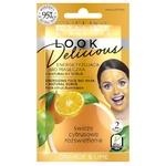 Биомаска для лица Eveline Look Delicious Апельсин-лайм с натуральным скрабом 10мл
