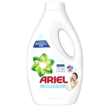 Гель для стирки Ariel для чувствительной кожи 990мл - купить, цены на Ашан - фото 1