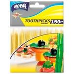 Зубочистки Новакс 150шт бамбукові