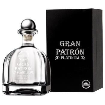 Текіла Patron Gran Platinum 40% 0,75л