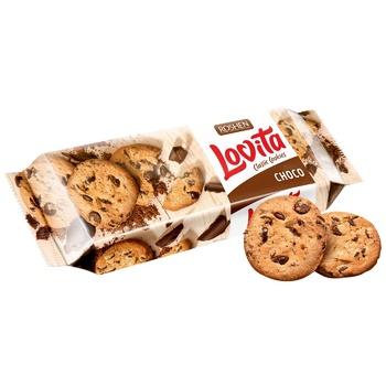 Печенье Roshen Lovita с кусочками шоколадной глазури 150г
