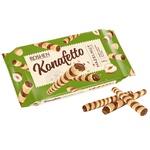 Трубочки вафельні Roshen Konafetto з горіховою начинкою 140г