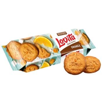 Печенье Roshen Lovita Classic сдобное з цедрой апельсина 150г