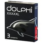 Презервативи Dolphi XXXXXL збільшена довжина і ширина з накопичувачем і силіконовою змазкою 3шт