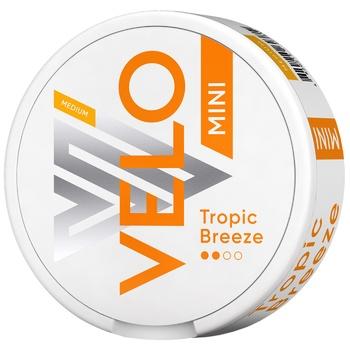 Безтабачные никотиносодержащие паучи Velo Tropic Breeze Medium Mini