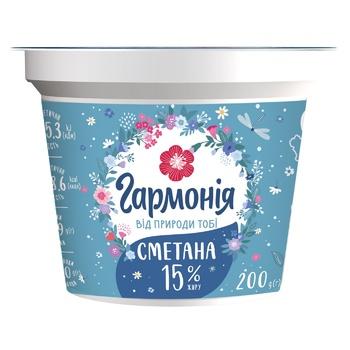 Garmonija Sour Cream 15% 200g