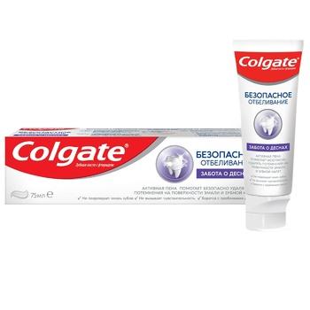 Зубна паста Colgate Безпечне відбілювання Турбота про ясна 75мл - купити, ціни на Ашан - фото 1