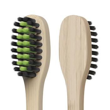 Зубная щетка Colgate Бамбук Древесный Уголь против бактерий черная мягкая 2шт - купить, цены на Ашан - фото 4