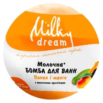 Milky Dream Papaya-Mango Milk Bath bomb 100g - buy, prices for CityMarket - photo 1
