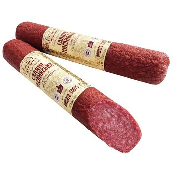 Yatran Myslyvsʹka salami raw smoked pork sausage 385g - buy, prices for Auchan - photo 1