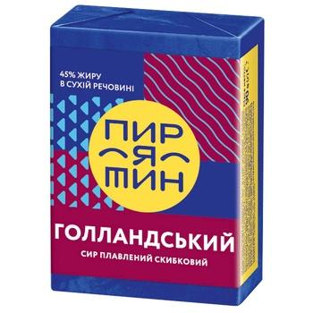Сир плавлений Пирятин Голландський 45% 90г - купити, ціни на Ашан - фото 1
