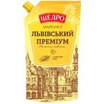 Mayonnaise Schedro Lvov Premium 80% doypack 400g Ukraine