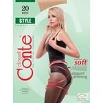 Колготи Conte Style жіночі 20 ден натуральні розмір 3