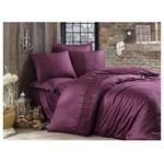 Aran Clasy Giza Violet Satin with Lace Bedding Set 200х220cm